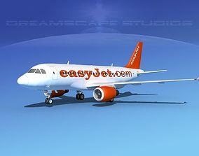 3D Airbus A319 Easyjet