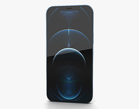 3D Apple iPhone 13 Pro Max Pacific Blue