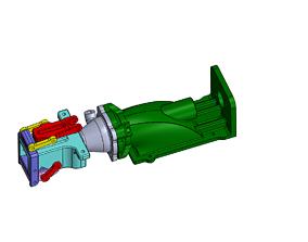 Boat Reversible Water Jet Drive 28 mm 3D print model