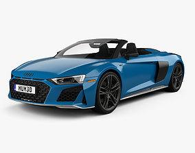 3D Audi R8 V10 US-spec spyder with HQ interior 2019