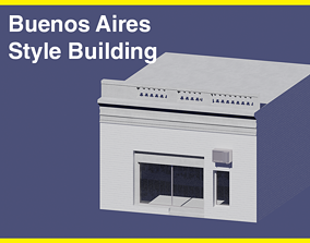Buenos Aires Style Building 1 3D model