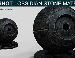 3D Obsidian Stone Material for Keyshot