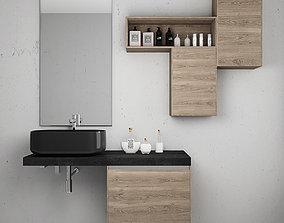 Bathroom furniture set Arcom eGo 3 3D