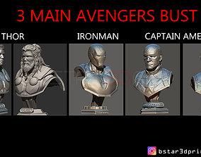 Thor - Iron Man - Captain America BUST - 3D print model 3