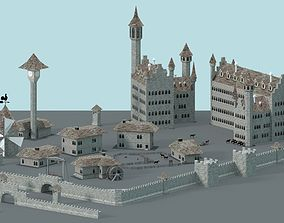 3D model realtime Game Ready Castle