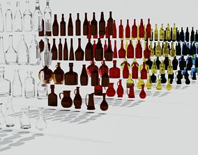 Bottle collection 3D asset VR / AR ready