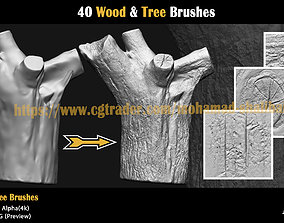 3D asset 40-Wood-and-Tree-Brushes