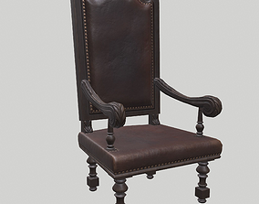 Carved armchair 3D model