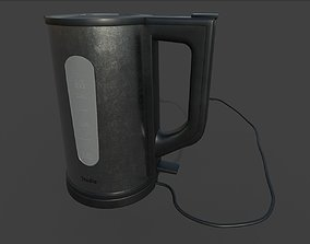 Electric kettle 3D model animated
