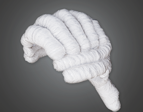 HAT - Victorian White Wig - PBR Game Ready 3D asset