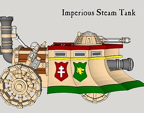 10mm Imperious Steam Tank 3D printable model