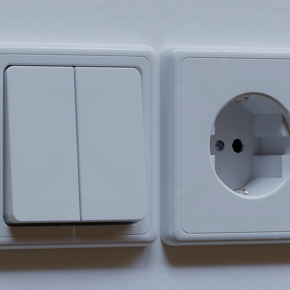 Power Socket and Light Switch