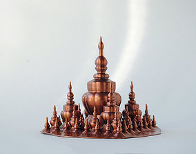 miniature 3D printable model Pagoda
