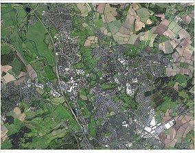 Cityscape Oxford England 3D model city