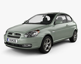 3D Hyundai Accent MC hatchback 3-door 2006