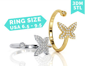3D print model Butterfly Round Ring R F 0044 curves