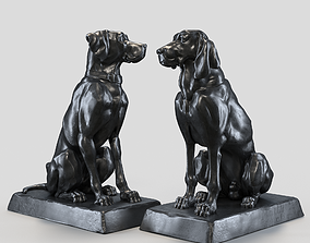 husky Two dogs 3D model