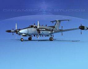 3D model Beechcraft RC-12N Guardrail USAF 3