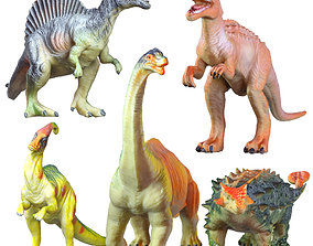 3D model Collection Of Five Dinosaur Toys