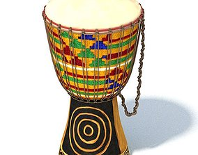 African Tribal Drum 3D