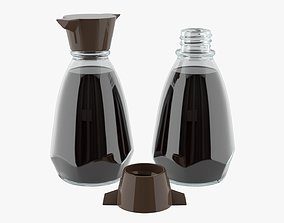 3D Soy sauce in a bottle 03