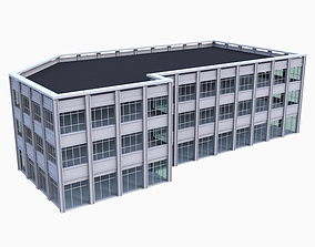 Office Building Model low-poly