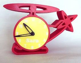 File STL orologio decorativo elicottero 3D print model