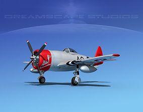 Republic P-47D Thunderbolt V02 3D model