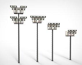 3D model floodlight 6