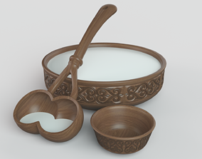 Kazakh national dishes 3D model