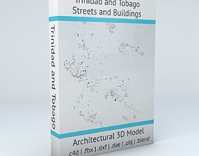 3D model Trinidad and Tobago Streets and Buildings