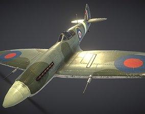 3D asset game-ready Supermarine Spitfire