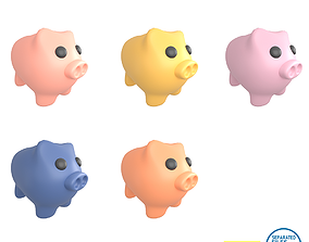 3D asset Piggy Bank V1 Pack 01