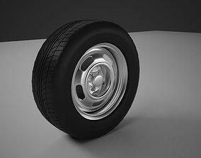 Classic car wheel 3D model