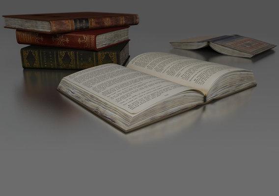 Old Books Render
