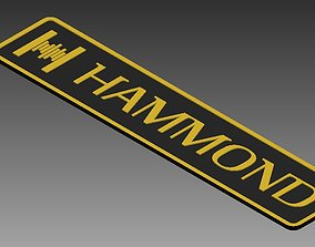 Hammond Organ Logo 3D printable model