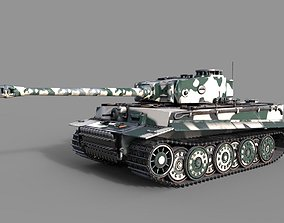 3D Tiger 1 Tank ww2 German Army