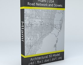 Miami Road Network and Streets 3D model