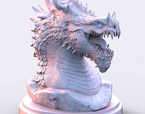 3D printable model Dragon Statue 6 and 12 inches