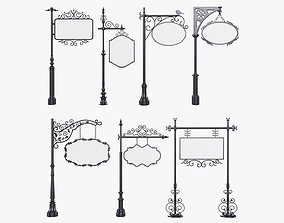 Forged columns 3D model