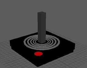 3D asset Atari Joystick