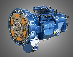 Heavy Duty Truck Transmission 3D