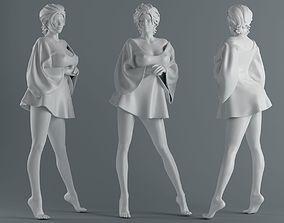 3D print model Women wear skirts 006