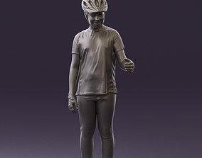 Young man in bikerider suit 0842 3D Print