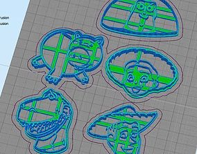Toy Story Cookie Cutter Set Woody Jessie 3D print model 3