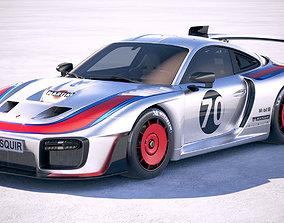 3D Porsche 935 2019 MobyDick