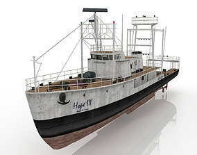large ship trawler 3D model