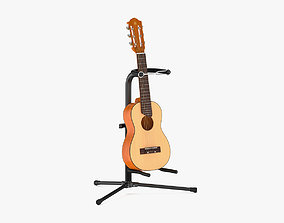 Yamaha Classical Guitar GL1 with Stands 3D model