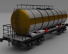 Train tanker car 3D