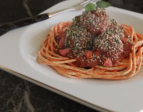 3D model Meatball Pasta